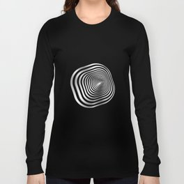 Square wormhole (b/w) Long Sleeve T-shirt