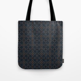 gothic star shapes pattern on the deep background Tote Bag