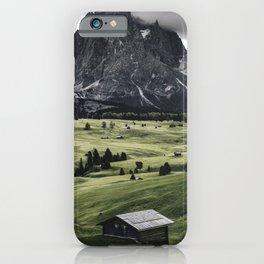 seiser alm landscape iPhone Case