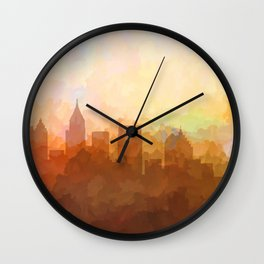 Atlanta, Georgia Skyline - In the Clouds Wall Clock