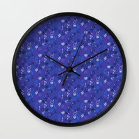 witchcraft Wall Clocks featuring Witchcraft mystic signs by Daria Rosen