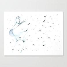 Moonbot #00: White Canvas Print