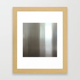 Industrial Brushed Stainless Framed Art Print