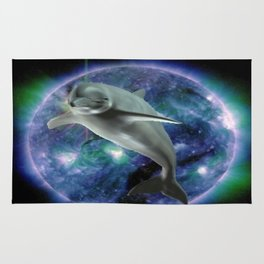 Space dolphin Rug