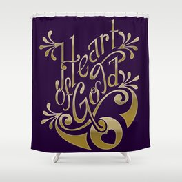 Heart of Gold - wording only Shower Curtain