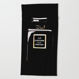 Black Parfum on black Beach Towel