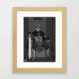 Chess Royalty [Black King] Framed Art Print