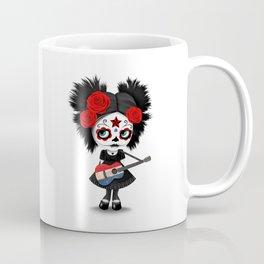 Day of the Dead Girl Playing Dutch Flag Guitar Coffee Mug