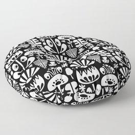 MCM Scandi Flowers White Floor Pillow