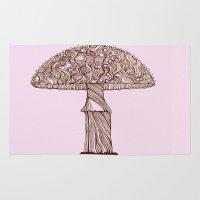 mushroom Area & Throw Rugs featuring Mushroom by Rahmah J Raines