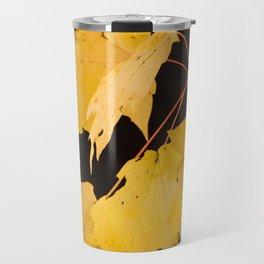 Yellow maple leaves Travel Mug