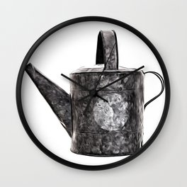 Old Watering Can Pop Art Wall Clock