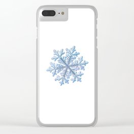 Real snowflake - Hyperion white Clear iPhone Case