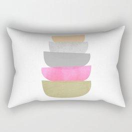 Balance, Mid Century Modern Art Rectangular Pillow