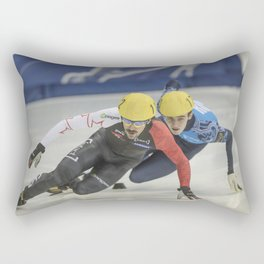 Charles Hamelin, Olympic Champion, Official Action Rectangular Pillow