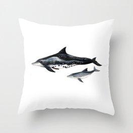 Rough-toothed dolphin (Steno bredanensis) Throw Pillow