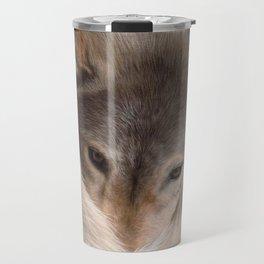 Timber Wolf Painting Travel Mug