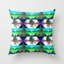 Dancing Christmas Tree Throw Pillow