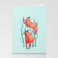 carpe Stationery Cards featuring Winter Fox by Freeminds