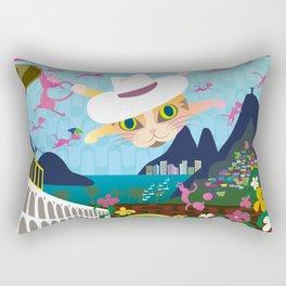 Mews in Rio de Janeiro Rectangular Pillow