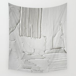 Relief [3]: an abstract, textured piece in white by Alyssa Hamilton Art  Wall Tapestry