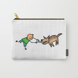 Playful Dog Boy Carry-All Pouch