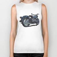 bmw Biker Tanks featuring BMW R50 MOTORCYCLE by Ernie Young
