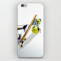 skate iPhone & iPod Skins featuring skate by Cal ce tin