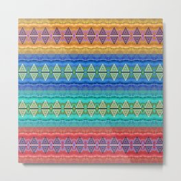 Illuminated Neo Tribal Micro pattern (HDR) Metal Print