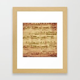 Vintage Sheet Music Framed Art Print