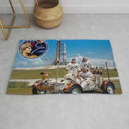 Apollo 17 - Prime Crew Portrait Rug