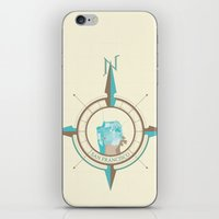 san francisco map iPhone & iPod Skins featuring Compass Map Series: San Francisco by ChrisRIllustrations