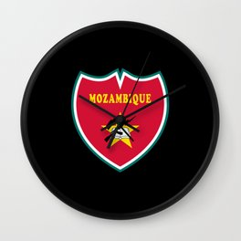 Mozambique Crest Flags Design Wall Clock