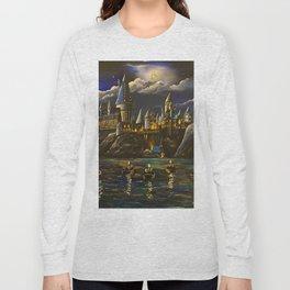 Castel at Starry night Long Sleeve T-shirt