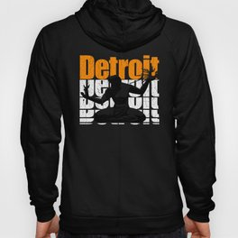 Vintage 1980's DETROIT (Distressed Design)  Hoody