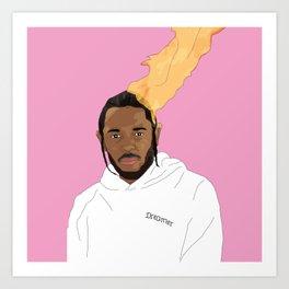 Kendrick Lamar, Pink Art Print