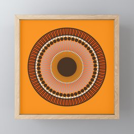 Tiger Eye Mandala Framed Mini Art Print
