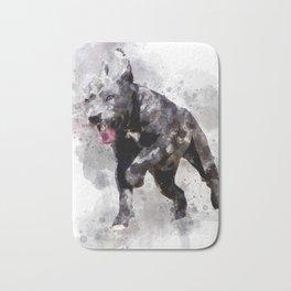 Playing Puppy Running Bath Mat