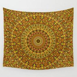Garden Mandala Ornament Wall Tapestry