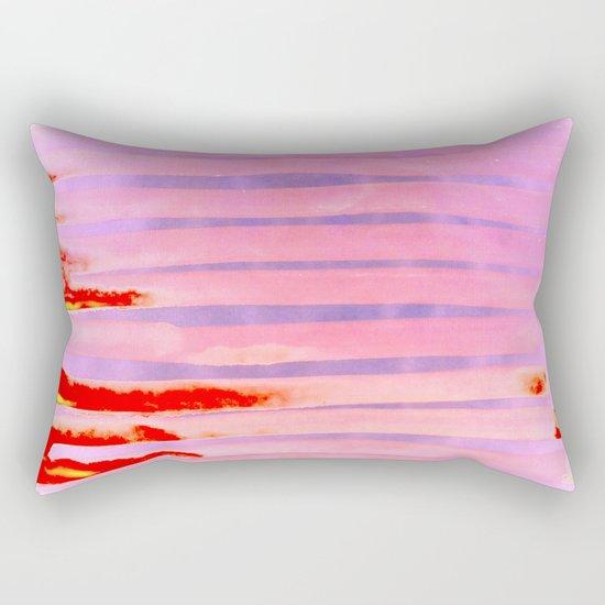 Pink Lava Lines Rectangular Pillow