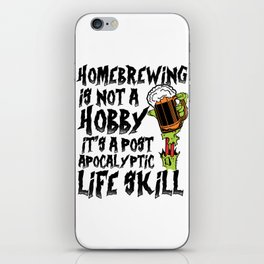 For Craft Beer Lovers who Brew Their Beer at Home Light iPhone Skin