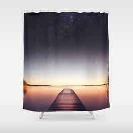 Skinny dip Shower Curtain