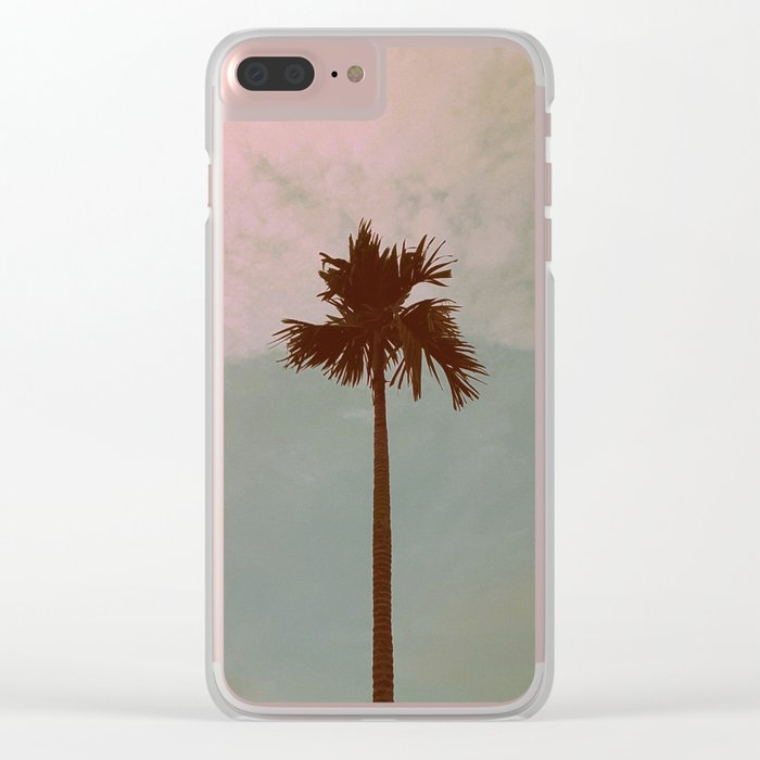 Palm Tree (vintage) Clear iPhone Case