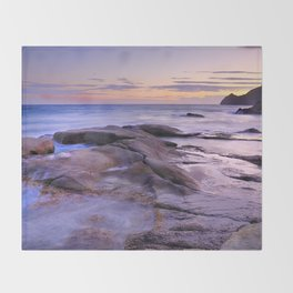 Purple Sunset At Vela Blanca Tower Throw Blanket