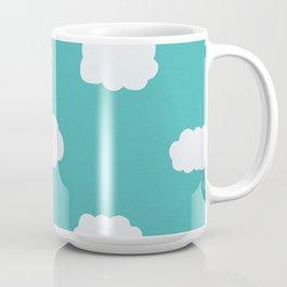 Cartoon Clouds Pattern Coffee Mug