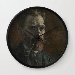 Self-Portrait with Pipe Wall Clock