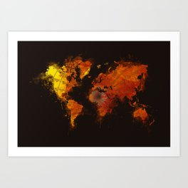world map 70 Art Print