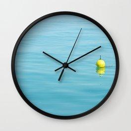 Yellow Lobster Trap Wall Clock