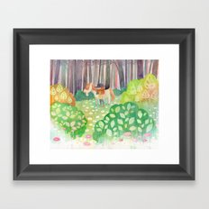 Cow Girl Framed Art Print