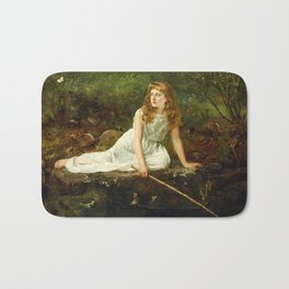 "John Collier ""The Butterfly inscribed 'Portrait of Mabel...'"" Bath Mat"